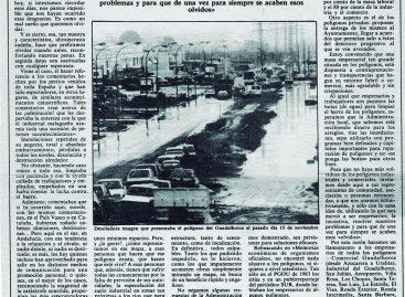 Casi 30 años hablando de inundaciones en polígonos